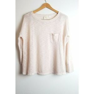 Maeve Anthropologie top Small Ivory Open Knit